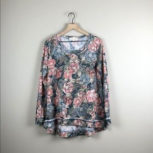 By Together Long Sleeve Floral Tunic (S)